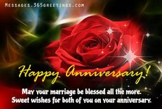Wedding Anniversary Wishes, Messages and Wedding Anniversary Greetings - Messages, Wordings and Gift Ideas