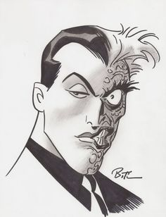 Two-Face by Bruce Timm