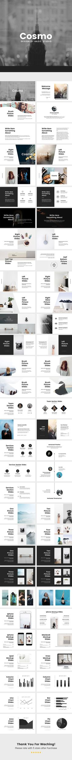 Cosmo Minimal Powerpoint Template #modern #infographic • Download ➝ https://graphicriver.net/item/cosmo-minimal-powerpoint-template/18377174?ref=pxcr