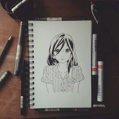 Yosano Suzume. Hirunaka no Ryuusei  #anime#animedrawing#sketch#bw#yosanosuzume#hirunakanoryuusei#manga#art#draw#mangart