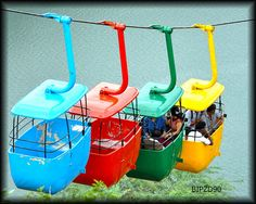 Colourful Cable Cars in India....