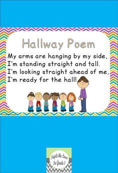 FREEBIE - Hallway poem!