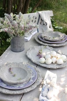 Grey, lavender, white and blue