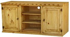 Authentic Rustic Pine TV Stands and Mexican Rustic TV Stands Rustic Pine Furniture, Mexican Furniture, Southwestern Home, Tv Cabinets, Home Furnishings, Home Accessories, Product Design, Wood, Technology