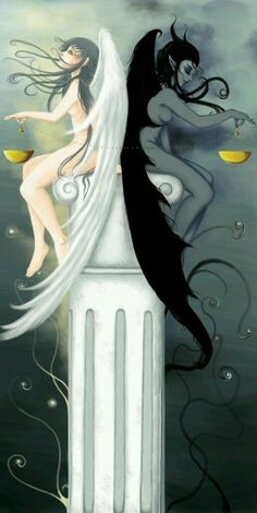 Libra angel devil balance