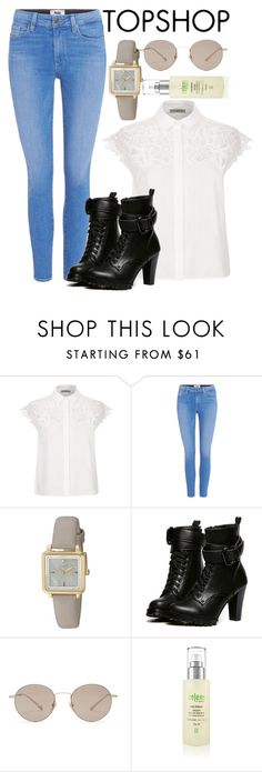 """""""Top shop styles"""" by mareehamasood246 on Polyvore featuring Sandro, Paige Denim, Kate Spade, WithChic, Topshop, Gucci and Zelens"""