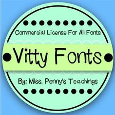 My first six fonts are out!Vitty Does Negative SpaceVitty Goes BoldVitty Makes LinesVitty ScratchesVitty ShinesVittys Handwriting All fonts are hand made and created by me! Thank you for purchasing a commercial license to Vitty Fonts! I hope you enjoy using these fonts to create bulletin boards, labels, student worksheets, newsletters to send home, and more!