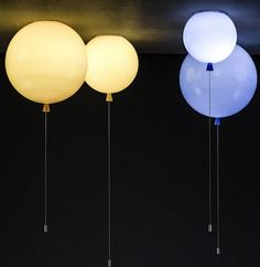 Memory Balloon Lights Are Balloons Shaped Lamps That Light Up Your Room Balloon Ceiling, Balloon Lights, Ceiling Lamp, Balloons, Ceiling Lights, Glass Ceiling, Moon Balloon, Wall Lights, Lampe Ballon
