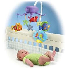 Amazon.com: Fisher-Price Ocean Wonders Deep Blue Sea Mobile Fisher-Price Crib Mobiles Remote Control: Baby