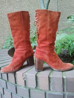 Christmas Coach Boots COACH/ Retro Suede by Binzorama on Etsy, $145.77