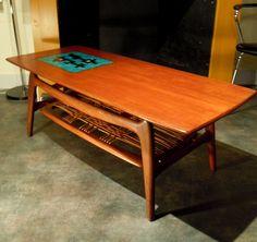 Wonderful Wébé coffee table from the 1960s, classic mid century design by Louis van Teeffelen. €450.00, via Etsy.