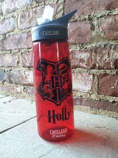 Harry Potter Inspired Hogwarts Crest Water Bottle on Etsy, $27.00