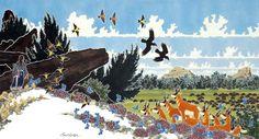paul globe illustrations dancing native woman - Google Search