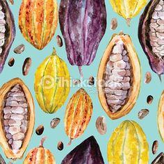 Clipart vectoriel : Watercolor cocoa pattern