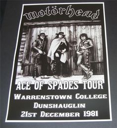 MOTORHEAD Poster (Warrenstown Ireland 81)