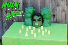 Want to know a smashing party inspired by one of the most favourite Marvel Comics characters? Check out these Incredible Hulk party ideas to draw inspirati Hulk Birthday, Avengers Birthday, Superhero Birthday Party, Birthday Party Games, 6th Birthday Parties, Boy Birthday, Birthday Ideas, Superhero Party Activities, Superhero Games For Kids