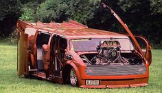 Drag Racing - Tom Richey's BLASTRO VAN Blown Pro Mod 1985 Chevy Astro Van