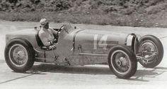 The Great Tazio Nuvolari at Montlhery driving a Bugatti T59 in the 1934 French Grand Prix