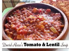 david rocco tomato lentil soup #recipe