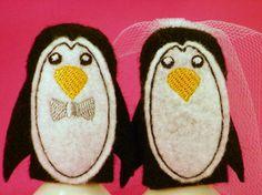 Wedding Animal Finger Puppets by ImogenesTeaGarden on Etsy, $5.00