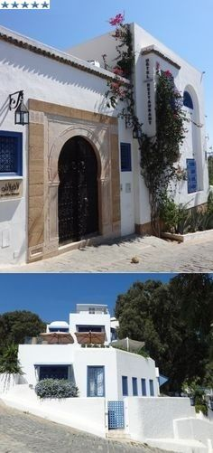 Boutique Hotel La Villa Bleue, 68 rue Kennedy, Sidi Bou Said, Tunisia. (5 star). Tel: 71742000. The rooms are all individually styled and have views out over the Mediterranean sea. There is a small terrace bar and a restaurant which does great food. Katrina©B
