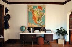 A Map & Credenza by Hickory and Juniper, via Flickr