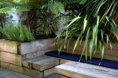 Outdoor living garden design in south london: garden by eart Modern Landscape Design, Modern Landscaping, Contemporary Landscape, Landscaping Ideas, Garden Makeover, Backyard Makeover, Back Gardens, Outdoor Gardens, Railway Sleepers Garden