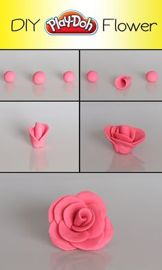 It's easy to create a DIY Play-Doh Flower--I bet this would work for cake decorations with fondant too!