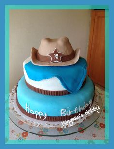 Western motive cake