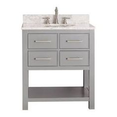 gray single sink vanity