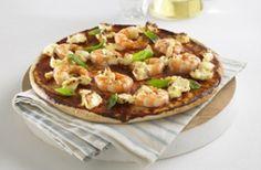 Prawn, Philadelphia and Basil Pizza