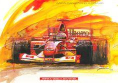 Ferrari F1 Michael Schumacher 2002  Fine art by SpeedAndColors, $35.00