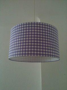 Lampenschirm 45cm -Lavendel mit Diffusor von XBergLampenschirme auf DaWanda.com
