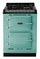 Pistachio AGA Companion - Finally a really small, really exceptional range and oven for the tiny home kitchen. Is available as a freestanding unit!