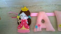 felt princess Garlands, Kids Room, Dinosaur Stuffed Animal, Felt, Christmas Ornaments, Princess, Toys, Holiday Decor, Home Decor