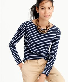 bac744fd8e12af Women's Clothing - New Sweaters, Dresses, Shoes, Women's Boots & Skirts.  Blue Striped Shirt OutfitBlue And White Striped ShirtStriped TopsJ Crew ...