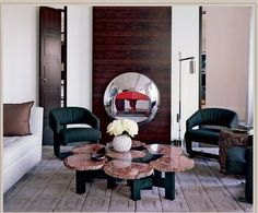 Living Room. Ado Chale Table. Designer: Pierre Yovanovitch.