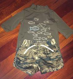 babyGap Baby Boy Swim Shorts And Rash Guard Size 0-6 Months   | eBay