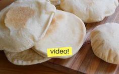 Pan Arabe casero con y sin horno (pan pita)