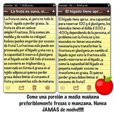 """Sascha Barboza en Twitter: """"No abusen de las frutas, el exceso de fructosa se…"""
