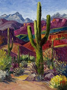 Kathryn Willis - Sabino Saquaro- Glass - Painting entry - February 2011 | BoldBrush Painting Competition