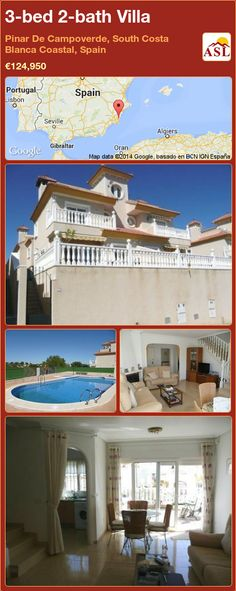 3-bed 2-bath Villa in Pinar De Campoverde, South Costa Blanca   Coastal, Spain ►€124,950 #PropertyForSaleInSpain