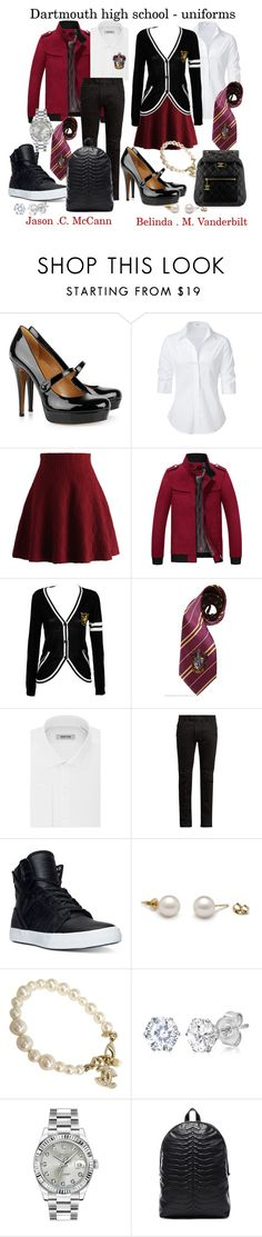 """Dartmouth high school students"" by juliafelizardo ❤ liked on Polyvore featuring Gucci, Steffen Schraut, Chicwish, Kenneth Cole Reaction, Balmain, Supra, Chanel, Amanda Rose Collection, Rolex and Alexander McQueen"