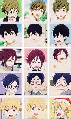 Free! Iwatobi Swim Club ~~ Via Tumblr >> look at how much EMOTION Haru is showing! Just looooook!!