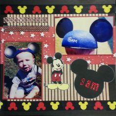 SAM - Scrapbook.com This disney layout was created using the Cricut cartridge Mickey and Friends