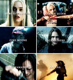 Suicide Squad Ladies #dc