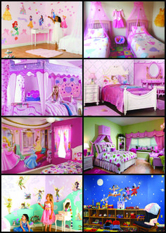 Disney themed bedroom ideas. (http://www.modernqualityhomes.com/decorating-a-disney-princess-themed-bedroom.html)