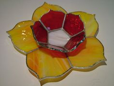 Vela titular decoración Flores emoción caliente por EmozionidiVetro