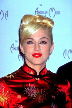 Madonna! Nooo, not you too! (This is her in 1995 at the AMAs.) | 15 Unforgivable Moments From The Late '90s/Early '00s Chinese Fashion Trend