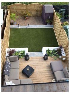Small Backyard Design, Small Backyard Landscaping, Patio Design, Landscaping Ideas, Fence Design, Small Patio, Backyard Pools, Mulch Landscaping, Terrace Design